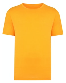 Bigdude Plain Crew Neck T-Shirt Orange