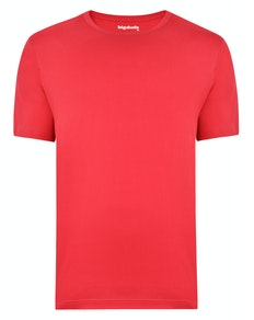 Bigdude Plain Crew Neck T-Shirt Red Space Cherry