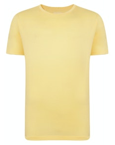 Bigdude Plain Crew Neck T-Shirt Yellow Tall