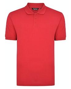Bigdude Plain Polo Shirt Red Space Cherry