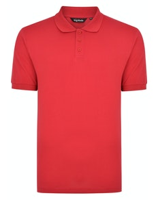 Bigdude Plain Polo Shirt Red Space Cherry Tall