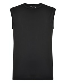 Bigdude Plain Sleeveless T-Shirt Black Tall