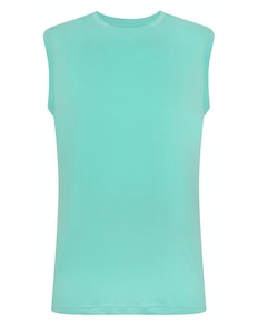 Bigdude Plain Sleeveless T-Shirt Green Tall