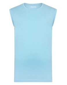 Bigdude Plain Sleeveless T-Shirt Sky Blue Tall