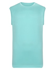 Bigdude Plain Sleeveless T-Shirt Turquoise Tall