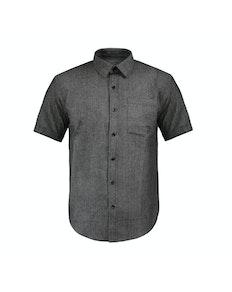 Bigdude Short Sleeve Textured Shirt Charcoal
