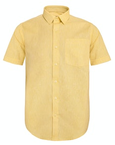 Bigdude Short Sleeve Woven Shirt Yellow