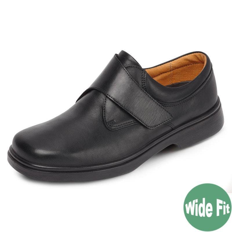 DB Shoes Reece Wide Fit Black Leather Shoe