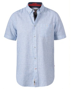D555 Reid Linen Mix Shirt Sky Blue