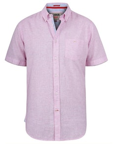 D555 Reid Linen Mix Shirt Pink
