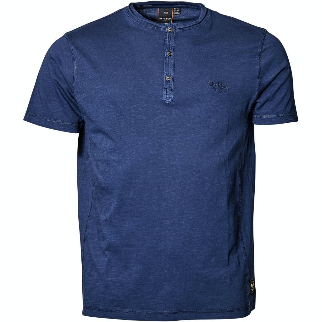 Replika Grandad T-Shirt Navy