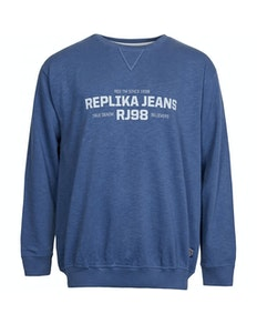 Replika Printed Logo Slup Yarn Sweat Navy