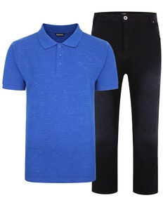 Bigdude Polo Shirt & Jeans Bundle 3
