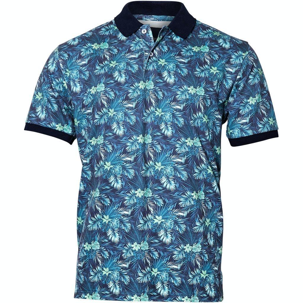 Replika Flower Polo Shirt Green