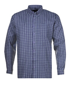 Espionage Double Fabric Check Long Sleeve Shirt Lilac/Green