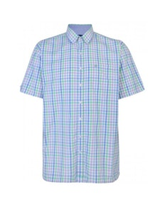 Espionage Check Short Sleeve Shirt Blue/Lilac