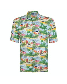 Espionage Camper Van Print Short Sleeve Shirt