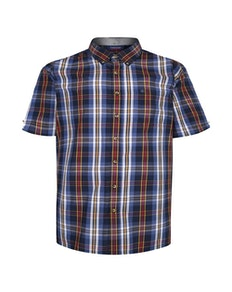Espionage Check Short Sleeve Shirt Navy/Blue