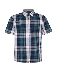 Espionage Check Shirt With Short Sleeves Navy/Green
