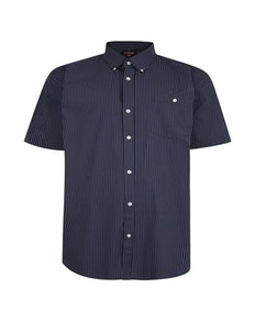 Espionage Geometric Print Shirt Navy
