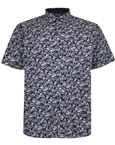 Espionage Floral Shirt Navy/White