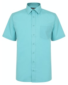 Bigdude Classic Short Sleeve Poplin Shirt Green Tall