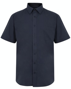 Bigdude Classic Short Sleeve Poplin Shirt Navy