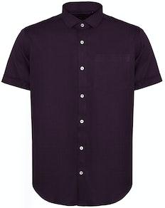 Bigdude Fine Twill Short Sleeve Shirt Plum