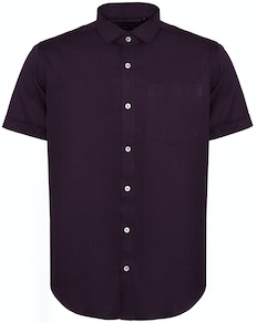 Bigdude Fine Twill Short Sleeve Shirt Plum Tall