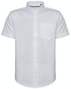Bigdude Fine Twill Short Sleeve Shirt White Tall
