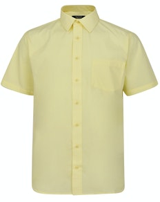Bigdude Classic Short Sleeve Poplin Shirt Lemon Tall