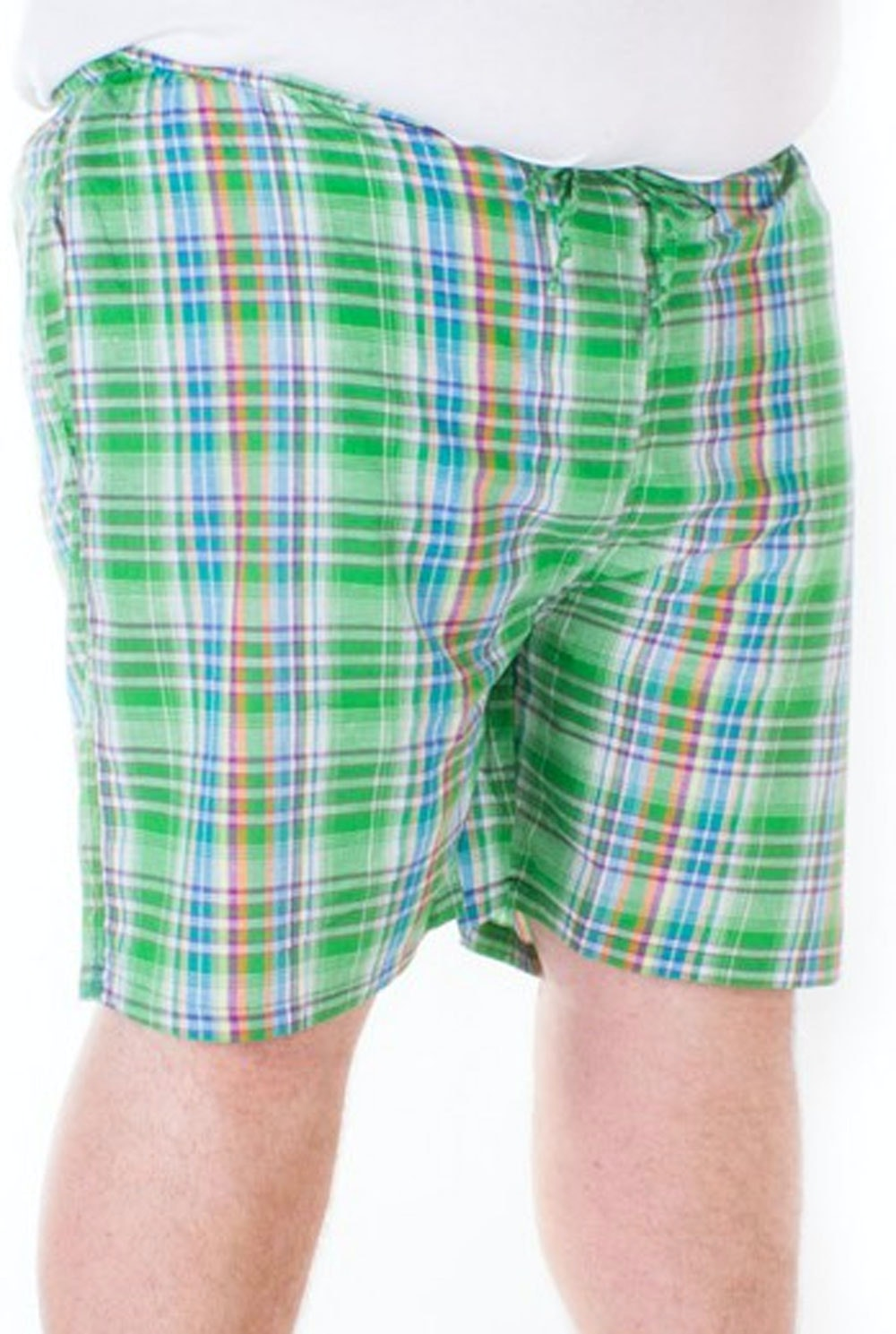 Fitzgerald Loungewear check shorts Green