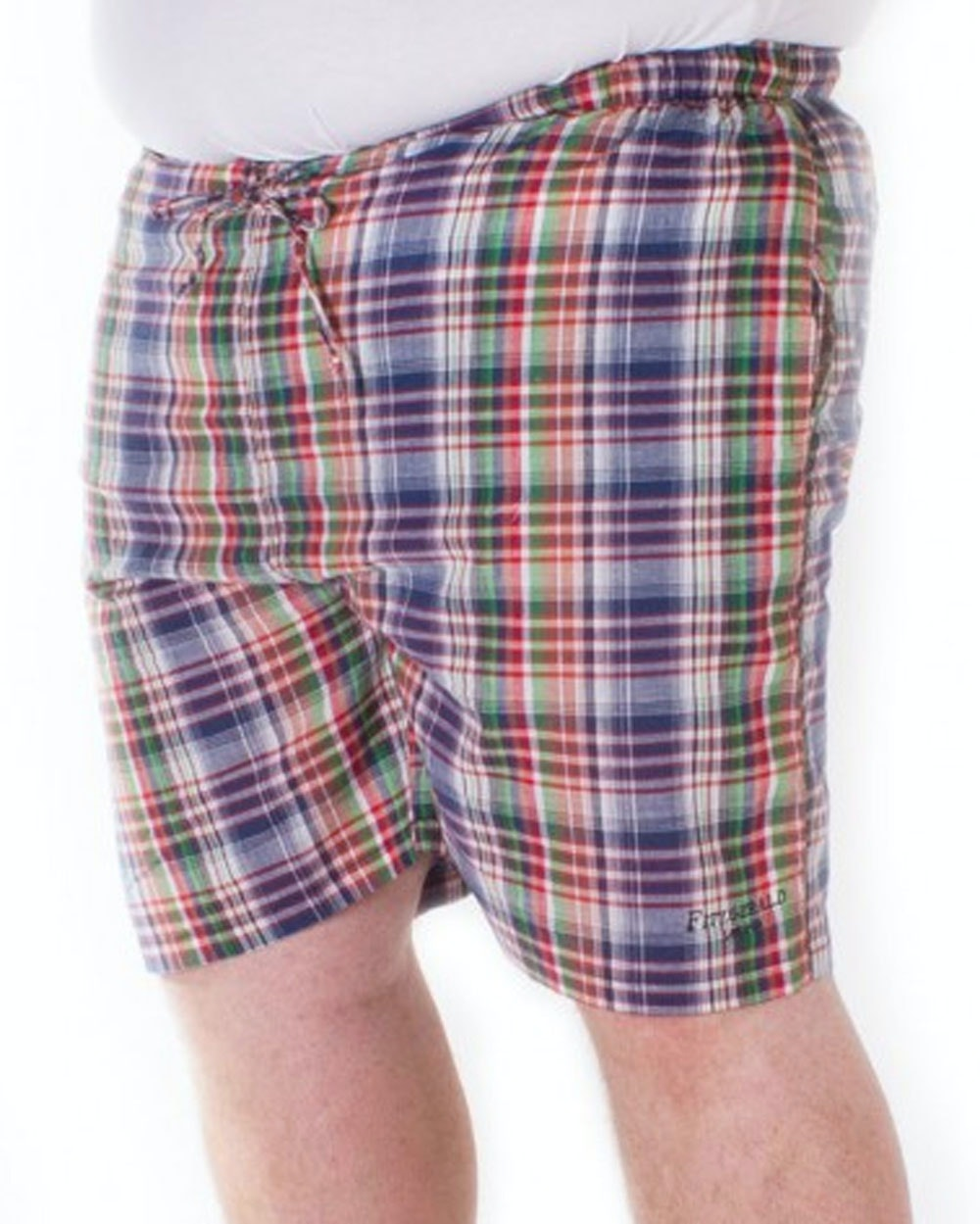 Fitzgerald Loungewear check shorts Navy Blue