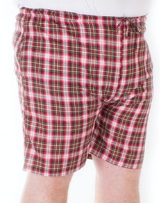 Fitzgerald Loungewear check shorts Red