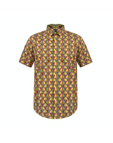 Bigdude Short Sleeve Skull Print Shirt