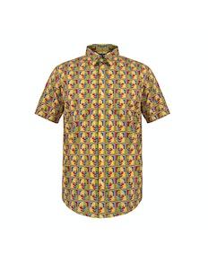 Bigdude Short Sleeve Skull Print Shirt Tall
