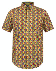 Bigdude Short Sleeve Skull Print Shirt Tall