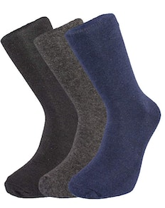Basics Navy/Black/Grey Socks 6 Pairs