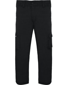 Bigdude Straight Fit Cargo Trousers Black