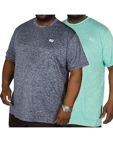 Bigdude Stretch T-Shirt Twin Pack Blue/Green