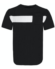 Bigdude Stripe Crew Neck T-Shirt Black