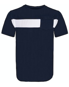Bigdude Stripe Crew Neck T-Shirt Navy