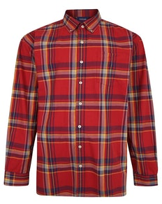 Espionage Long Sleeve Check Shirt Orange