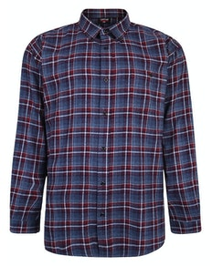 Espionage Brush Check Shirt Blue/Wine