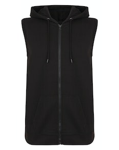 Bigude Loop Back Sleeveless Hoody Black
