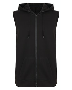 Bigdude Loop Back Sleeveless Hoody Black Tall