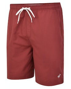 Bigdude Plain Swim Shorts Burgundy
