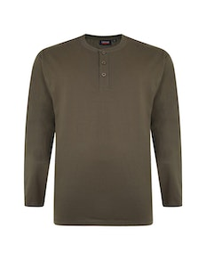 Espionage Long Sleeve Grandad T-Shirt Olive