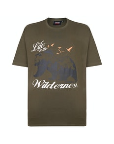 Espionage Wilderness Printed T-Shirt Khaki