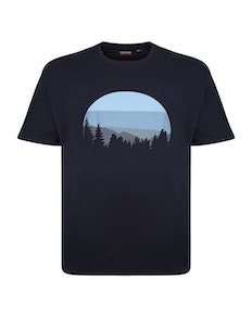 Espionage Forest Printed T-Shirt Navy